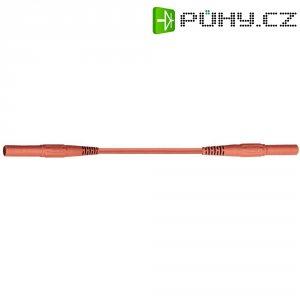 Měřicí silikonový kabel banánek 4 mm ⇔ banánek 4 mm MultiContact XMF-419, 0,5 m, červená