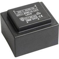 Transformátor do DPS Gerth EI 38/13,6, prim: 230 V, Sek: 2x 12 V, 150 mA, 3,6 VA
