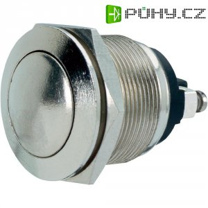 Tlačítko antivandal bez aretace PBS-28B, 250 V/AC, 2 A, stříbrná, 1x vyp/(zap)