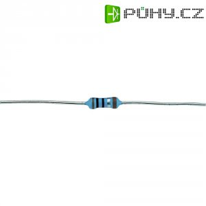 Metalizovaný rezistor, 107 Ω , 1 %, 0207, axiální vývody, 0,6 W, 1 %