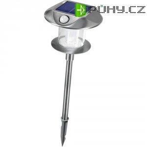Solární LED svítidlo s detektorem pohybu Esotec Sunny, 102095, nerez