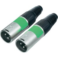 Kabelový konektor XLR (M), sada 2 ks