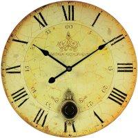 Quarz kyvadlové hodiny Techno Line, WT 1021, Ø 34 cm, okrová