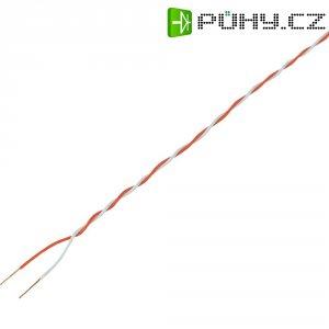Kabel CCA SH1998C497, červená/bílá, 5 m