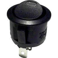 Kolébkový spínač, s červenou LED, 1x vyp/zap, 250 V/AC, 6 A, černá