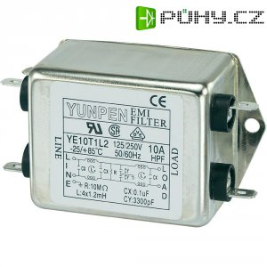 Odrušovací filtr Yunpen YE10T1L2, 250 V/AC, 250 V/AC, 10 A, 10 A
