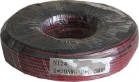 Dvojlinka 2x0,5mm2 20AWG červeno-černá, balení 100m /CYH 2x0,5mm/