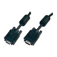 VGA kabel, zástrčka/zásuvka, černý, 10 m