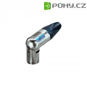 XLR kabelová zástrčka Neutrik NC6MRX, úhlová, 6pól., stříbrná