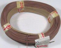 Vodič-lanko 0,5mm2 hnědý silikonový, balení 100m