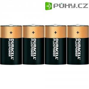Alkalická baterie Duracell Plus, typ D, sada 4 ks