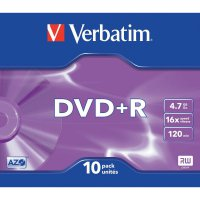 Verbatim DVD+R 4,7GB 16X 10 ks SLIMCASE