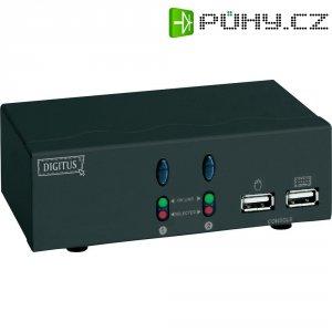 USB KVM přepínač, 2 porty, Digitus DC 11403