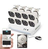 Kamera set ZMODO 720P sPoE 8CH NVR + 8x IP CAM + 1TB HDD digitální