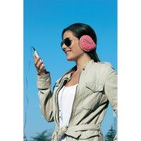 Headset Midland SubZero, s chráničem uší, růžový