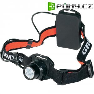 LED čelovka 6 LED Grundig, 34588, černá/červená