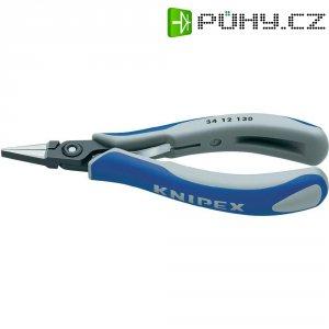 Přesné kleště pro elektroniky Knipex 34 12 130, 135 mm, plochý, široký břit