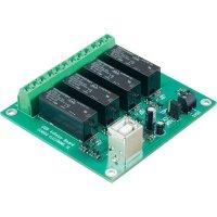 Modul reléové karty s USB 4nás. Conrad, 72 x 76 x 16 mm