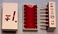 LQ310 zobrazovač +-1., červený, TESLA
