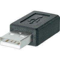 USB adapter zástrčka Typ A  zásuvka mini USB Typ B BKL Electronic 10120276, černý