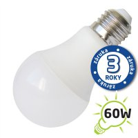 Žárovka LED A60 E27/230V 10W (Pc) - denní bílá (záruka 3 roky)
