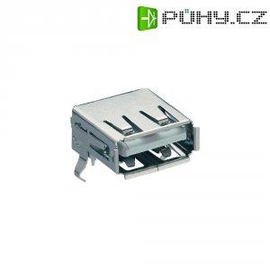 USB vestavná zásuvka do DPS Lumberg 2410 02, Typ A, úhlový