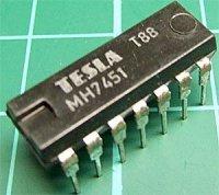 7451 dvojitý poz.logický člen AND-OR-INVERT, DIL14 /MH7451,MH5451S/