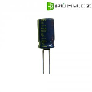 Kondenzátor elektrolytický Panasonic EEUFC1E121H, 120 µF, 25 V, 20 %, 15 x 6,3 mm