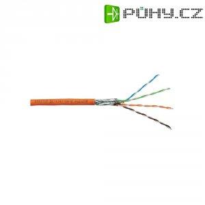 Síťový kabel CAT 7 S/FTP, 4x 2x 0,25 mm², 50 m, oranžový, Digitus