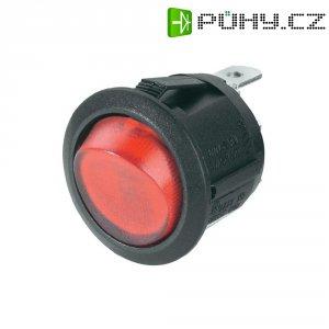 Kolébkový spínač R13-112B B/R LED 12V, 1x vyp/zap, 12 V/AC, 10 A, červená/černá