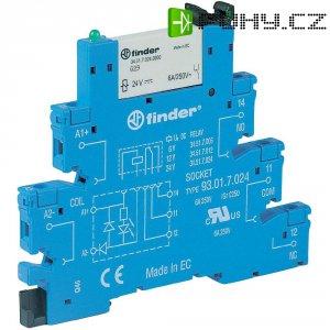 Interface relé Finder 38.51.0.024.5060, 24 V ACDC, 6 A, pozlacené kontakty