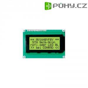LCD displej 40x2, 15 mm, černá, zelená/žlutá