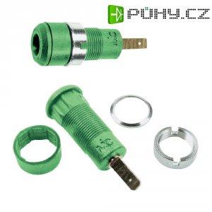 Laboratorní konektor Ø 2 mm MultiContact 65.9098-25, zásuvka vestavná vertikální, zelená