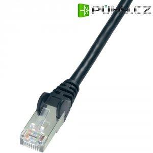 Patch kabel CAT 5e, F/UTP RJ 45, vidlice ⇔ vidlice, 0,5 m, černý