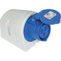 CEE-Cara zásuvka 113-6 PCE, 16 A, IP44, modrá