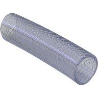Hadice z PVC vyztužená tkaninou, Ø 31,6 mm, transparentní