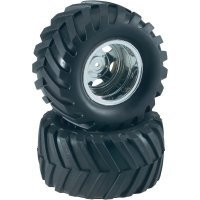 Monstertruck kolo Reely, 5 paprsků, 1:10, 12 mm 6-hran, chrom, 2 ks (CB360BG1)