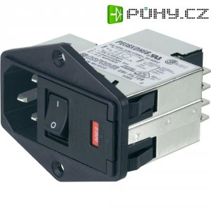 Síťový filtr TE Connectivity, PS00XDH3A=C1188, 250 V/AC, 3 A