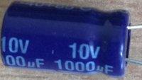 1000u/10V 85° 8x14x4mm, elektrolyt.kondenzátor radiální