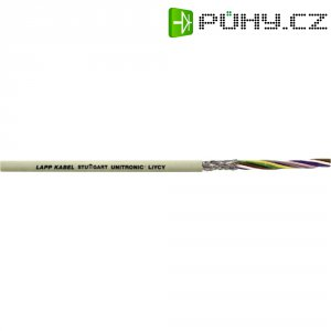 Datový kabel UNITRONIC LIYCY 2 x 1 mm2, šedá