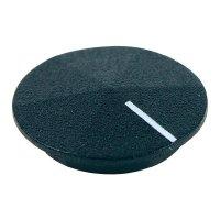 Krytka na otočný knoflík Cliff CL177801, pro sérii K12, černá