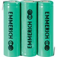 Akupack NiMH Emmerich AA, 1500mAh, 3,6V, pájecí kontakty