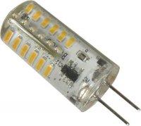 Žárovka LED G4 bílá, 12V/2W, 48x SMD3014, silikonový obal