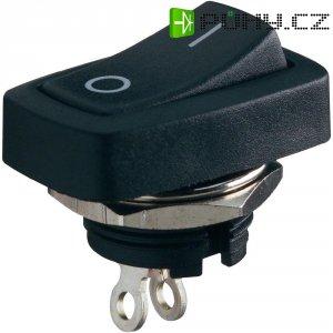 Kolébkový spínač SCI R13-228B-05, 1x vyp/zap, 250 V/AC, černá/červená