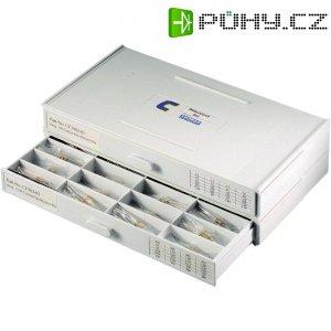 Zásobník na malé součástky - 12 přihrádek, 264,8 x 33,5 x 138 mm