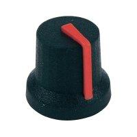 Otočný knoflík Cliff CL170854BR, pro sérii K87MBR, 6 mm, s drážkováním, černá