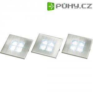 Vestavná LED světla, sada 3 ks, 3x 1,5 W, 12 LED, hranatá