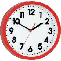 Analogové nástěnné hodiny, Ø 25 x 5 cm, červená