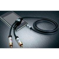 Připojovací kabel Oehlbach, jack zástr. 3.5 mm/cinch zástr., černý, 1,5 m