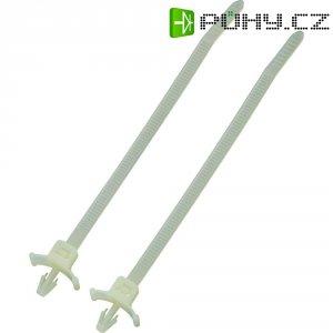 Stahovací pásek s úchytou KSS PWVS100, 112 x 2,5 mm, přírodní